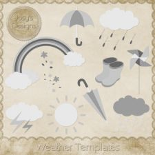 Weather Layered Templates by Josy available at cudigitals.com. Providing digital scrapbooking graphic designs for commercial use.