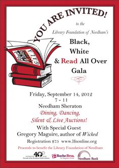 Library Foundation of #Needham's Gala will be on 9/14/12 - www.lfnonline.org