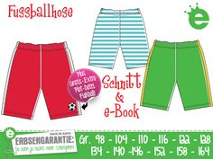 Fußballhose Gr. 98–164 Schnitt & e-Book Badehose von Erbsenprinzessin auf DaWanda.com
