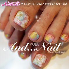 ネイル(No.2149098)|シンプル |カラフル |フラワー |女子会 |春 |夏 |海 |パステル |ジェルネイル |お客様 |フット | かわいいネイルのデザインを探すならネイルブック!流行のデザインが丸わかり! Mani Pedi, Manicure, Pedi Perfect, Pretty Pedicures, Japanese Nail Art, Pink Nails, Nail Designs, Art, Nail Bar