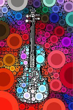 Light Blue Violin 2 Art