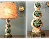50's RETRO Kitsch Mid Century Ceramic Table Lamp Light