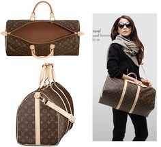 LV Keepall 50 w/ strap = Ideal travel companion