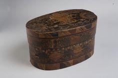 Antique folk art bentwood box