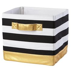 Mod Cube Bin (Gold) in Bins & Baskets | The Land of Nod