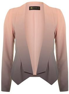 Kardashian Kollection ombre printed jacket