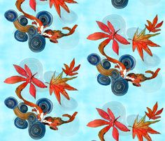 Zen_Pond_ripples fabric by wiccked on Spoonflower - custom fabric