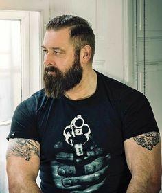 The Beard & The Beautiful Scruffy Men, Hairy Men, Bearded Men, Short Beard, Rugged Men, Beefy Men, Beard Love, Awesome Beards, Beard Tattoo