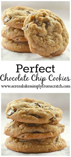 Our families all time favorite Chocolate Chip Cookies! They are perfect in every way with a crispy edge and chewy center! www.serenabakessimplyfromscratch.com