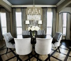 Furniture, window treatments & chandeliers!!!  oh and flowers