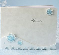 Winter Wonderland Guest Book from TheWeddingOutlet.com