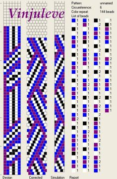 6 around | 4 colors | zigzags