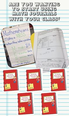 Math Journals - 1st, 2nd, 3rd, 4th, and 5th grade versions available.  4 prompts for each Common Core Standard