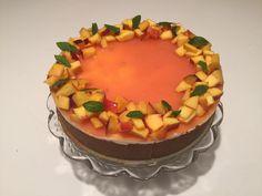 #cheesecake #senzacottura alle #pesche con #panna e #mascarpone #torta #dessert #frutta // #nobake cheesecake with #cream and #mascarpone #cheese and #peaches #cake #fruit // cheesecake #sanscuisson avec #chantilly, mascarpone et #pêches #gateau