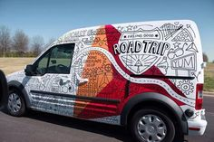 Via @pvsagencia - Road Trip anyone?Great van wrap design by @Tim Harbour Harbour Shute Goodman