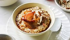 goodness breakfast | toasted grain oatmeal with maple pears