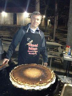 Gigantic pancake on the Evo Circular Cooktop