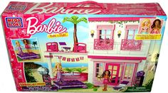 Barbie Mega Bloks Beach House Build 'N Style Playset MIB 80226 Toy Blocks 129 pc #MegaBloks #HousesFurniture