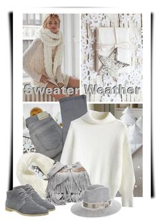 """Sweater Weather"" by defineyourstyle ❤ liked on Polyvore featuring Free People, Comptoir Des Cotonniers, Chicwish, Collection XIIX, Clarks, rag & bone and sweaterweather"