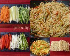wok nouilles légumes