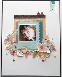 The full layout from today's Scrappy Sunday Challenge. Something old, something new. Give it a try!  #likeforeverkit #lfeacornavenue #scrapbookingkit #scrapbooking #mixedmedia @pinkpaislee @prettypinkposh