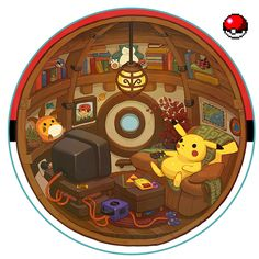 interior pokebola pokeball pokemon