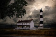 The current Bodie Island Lighthouse is the third that has stood in this vicinity of Bodie Island on the Outer Banks in North Carolina and was built in 1872. Wikipedia