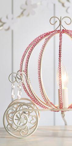 Princess beaded carriage lamp