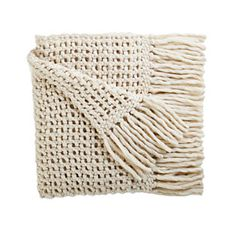 open weave on this throw says casual and luxe