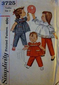Seno di pantaloni Top Sewing Pattern dimensione 2 ragazze degli anni cinquanta semplicità 3725 21 di Denisecraft su Etsy https://www.etsy.com/it/listing/162951977/seno-di-pantaloni-top-sewing-pattern
