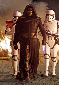 """Kaplan says that Kylo Ren who dons a dark cloak and mask, boasts an especially unique look. """"He doesn't look like a Stormtrooper,"""" Kaplan says. """"He doesn't look like anyone else around him. It's a look all unto himself."""" And while his face mask is reminiscent of Darth Vader, it also stands on its own with its mirror-like details. """"Instead of seeing into his character, you kind of see a reflection of what's going on around him, which only enhances the design that's already there."""""""