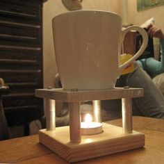 Tea Light Cup Warmer (DIY). Cool way to keep your coffee warm