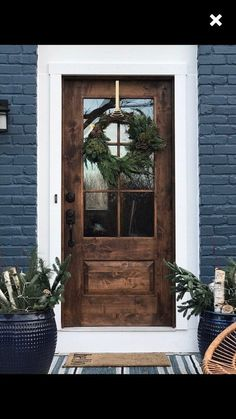 farm-style, mid century modern, contemporary rustic door, // handmade, custom fixer upper style entry door for your home Rustic House Exterior Rustic Contemporary, Mid-century Modern, Contemporary Farm House, Modern Rustic Decor, Danish Modern, Rustic Farmhouse, Farmhouse Front Doors, Wood Front Doors, Country Front Door