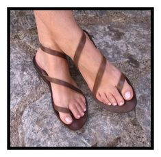 handmade leather sandals creative sandals leather por shibumi2015