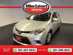 2015 Toyota Corolla LE 27k miles $17,880 27031 miles 281-407-9523  #Toyota #Corolla #used #cars #MikeCalvertToyota #Houston #TX #tapcars
