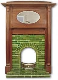 Latest Photo Fireplace Inserts remodel Concepts Looking to put a comfy touching to your dwelling? Contemplate purchasing a fireplace which will warmth you act. Fireplace Remodel, Remodel, 1930s Decor, Oval Mirror, Art Deco Fireplace, Tile Remodel, Edwardian Fireplace, Fireplace Tile, 1930s Fireplace