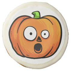 Halloween Pumpkin cookies - halloween decor diy cyo personalize unique party