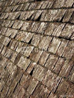 Steiles Dach mit Holzschindel eines Bauernhaus in Oerlinghausen im Teutoburger Wald bei Bielefeld in Ostwestfalen-Lippe