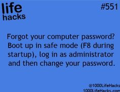 1000 life hacks is here to help you with the simple problems in life. Posting Life hacks daily to help you get through life slightly easier than the rest! Hack My Life, Simple Life Hacks, Useful Life Hacks, Daily Hacks, Everyday Hacks, Computer Password, Computer Help, Computer Tips, 1000 Lifehacks