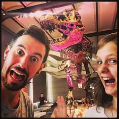 It's Dino Time! Watch out for that T-Rex! #BestGodchildEver #LetsHaveSomeFun #MuseumTime #DinoTime #JurassicWorld #SuchFun #YeeeHaw #Joy (peter_castles / Instagram)
