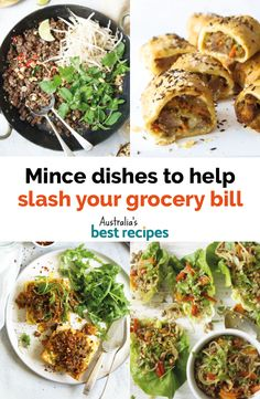 27 mince dishes to help slash this week's grocery bill Easy Mince Recipes, Minced Beef Recipes, Dinner Recipes, Aussie Food, Australian Food, Mince Dishes, Stuffed Squash, Pork Mince, Spicy Thai