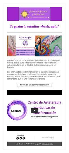 Te gustaría estudiar Arteterapia? Academia, Curriculum, Studying, Live, Wellness, Be Nice