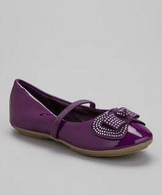 Take a look at this Purple Ruby Flat by COCO Jumbo on #zulily today!