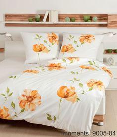 Mako-Satin-Bettwäsche Moments 9005 –Florales Dessin bringt den Sommer ins Schlafzimmer