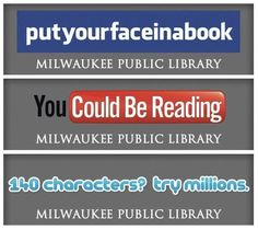 Like this idea...social media inspired icons for the Milwaukee library...could be adapted for any library
