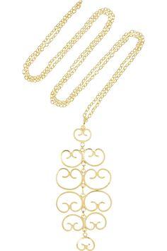 MallarinoMercedes gold-plated filigree necklace