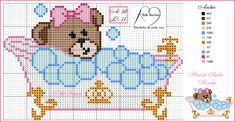 Baby Cross Stitch Patterns, Cross Stitch For Kids, Mini Cross Stitch, Cross Stitch Designs, Valentine Gift Baskets, Bear Felt, Baby Kiss, Christmas Crochet Patterns, Needlepoint