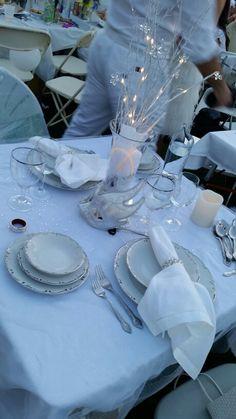 Diner en Blanc 2014 table setting More