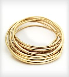 I discovered this Gold Leather Bangle Bracelets on Keep. View it now.