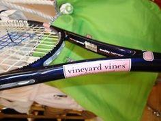 Vineyard Vines tennis racket